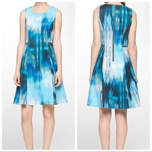 Calvin Klein Watercolor Sleeveless Dress